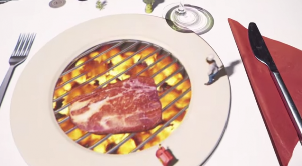 Beamer-Steak-grillen-am-Tisch-Animation-2