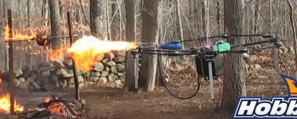 Weihnachtsgans-am-offenen-Feuer-mit-Flammenwerfer-Drohne-grillen