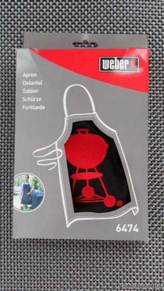 Weber Grillschürze mit rotem Kettle Grill im Test (6474)