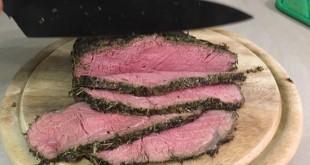 Roastbeef mit Kräuterkruste - bei Niedertemperatur garen (9)