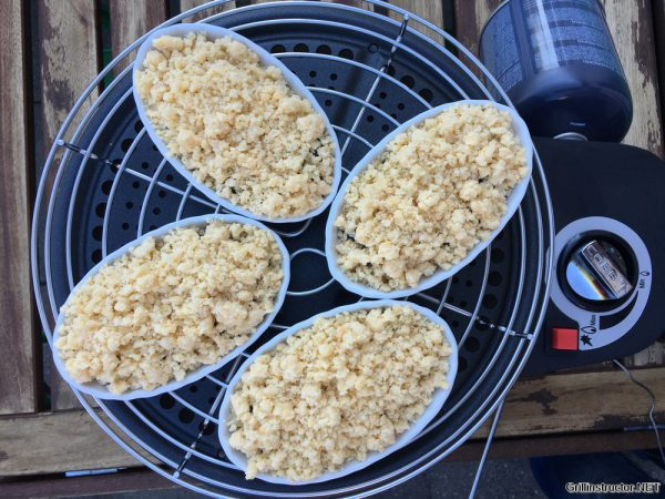 Früchte - Obst - Beeren Crumble vom Grill - Rezept (7)